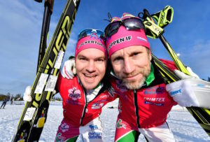 20161126 Idre Fjäll Idre-Särna tävlingarna prolog Robin Bryntesson och Peter Jihde Foto Nisse Schmidt
